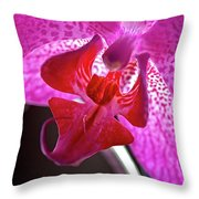 Orchid's Tongue Throw Pillow