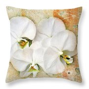 Orchids Upon The Rough Throw Pillow