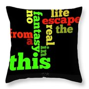 Order The Lyrics Game. Queen. Bohemian Rapsody. Game For Music Lovers And Fans Throw Pillow