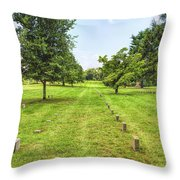 Ordered Rows Throw Pillow