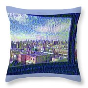Ordinary Day For Trains Throw Pillow