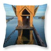 Ore Dock Too Throw Pillow
