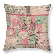 Oregon And Washington Territory Throw Pillow