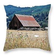 Oregon Barn Throw Pillow
