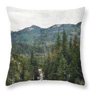 Oregon Cascade Range Throw Pillow
