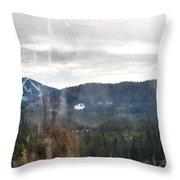 Oregon Cascade Range Landscape Throw Pillow
