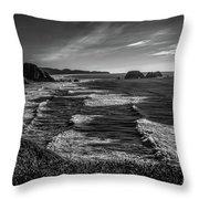 Oregon Coast At Sunset Throw Pillow