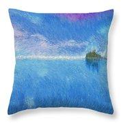 Oregon Coast Twilight Throw Pillow