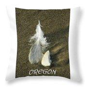 Oregon Feather Throw Pillow