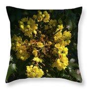 Oregon Grape Flowers Throw Pillow