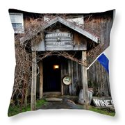 Oregon Hill Winery Throw Pillow by Stephanie Calhoun