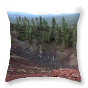 Oregon Landscape - Crater At Lava Butte Throw Pillow