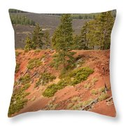 Oregon Landscape - Red Crater Throw Pillow