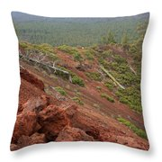 Oregon Landscape - Red Rocks At Lava Butte Throw Pillow