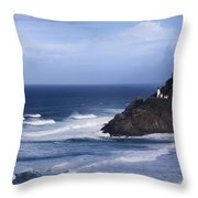 Oregon Lighthouse Throw Pillow