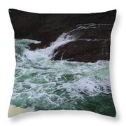 Oregon Ocean Pool Throw Pillow