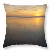 Oregon Ocean Sunset Throw Pillow