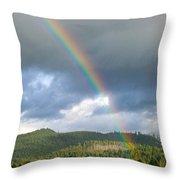 Oregon Rainbow Throw Pillow