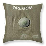 Oregon Sand Dollar Throw Pillow