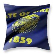 Oregon State Flag Throw Pillow