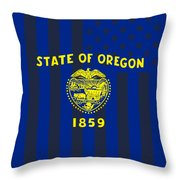 Oregon State Flag Graphic Usa Styling Throw Pillow