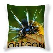 Oregon Woolly Bear Throw Pillow