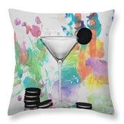 Oreo Happy Hour Watercolor Bg Throw Pillow