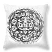 Oreo In Negetive Throw Pillow