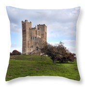 Orford Castle - England Throw Pillow