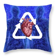 Organ Donation Throw Pillow