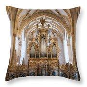 Organ Of The Gothic-baroque Church Of Maria Saal Throw Pillow