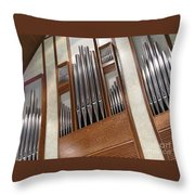 Organ Pipes Throw Pillow
