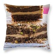 Organic Coffee And Pistachio Cake A Throw Pillow