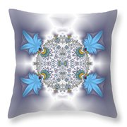 Organic Fractal Throw Pillow