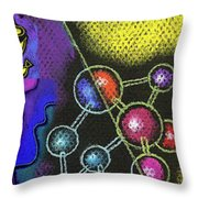 Organic Health Food And Biotechnology  Throw Pillow