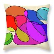 Organic Kaleidoscope Throw Pillow