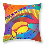Organic Life Scan Or Cellular Light - Blood Throw Pillow