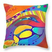 Organic Life Scan Or Cellular Light - Blue Throw Pillow