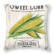 Organic Seed Packet 4 Throw Pillow