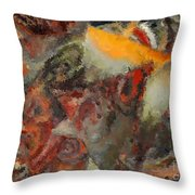 Organic Shapes And Colors Throw Pillow