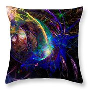 Organic Spaceship Throw Pillow