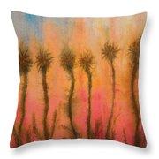 Organic Watercolor Art Throw Pillow
