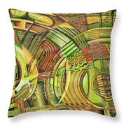 Organical Mechanical Throw Pillow