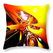 Organized Confusion Abstract Throw Pillow