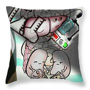 Organs Accusation M Throw Pillow