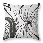 Organza Bloom Throw Pillow