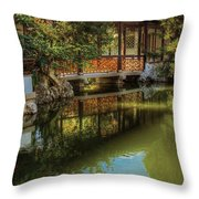 Orient - Bridge - The Chinese Garden Throw Pillow