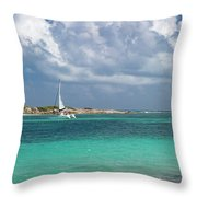 Orient Beach Catamaran Throw Pillow
