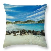 Orient Beach Throw Pillow