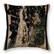Oriental Falls Throw Pillow